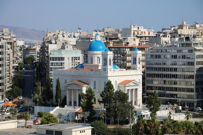 Igreja do ¿ s do St NikolaÎ, Piraeus Greece fotos de stock
