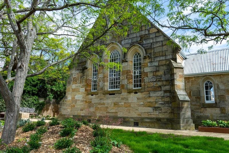 Igreja do arenito - Tasmânia - Austrália imagens de stock royalty free