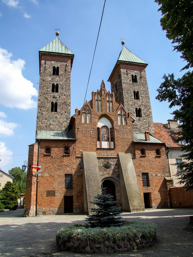 """Igreja do aviso à Virgem Maria abençoada no 'Ä da SK nad WisÅ do """"de CzerwiÅ… no Polônia imagens de stock"""