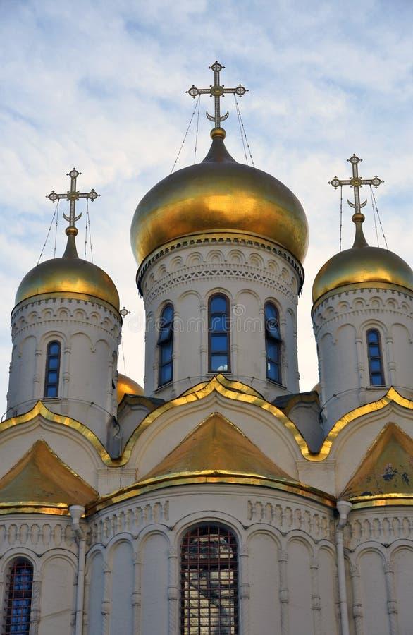 Igreja do aviso do Kremlin de Moscou Local do património mundial do Unesco imagem de stock