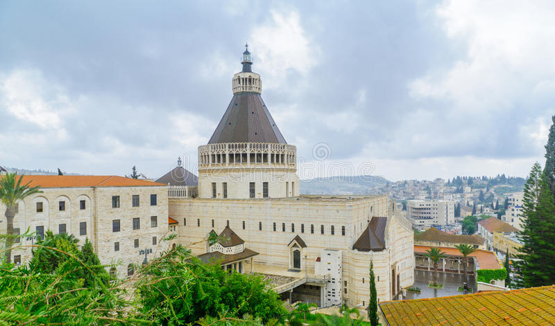 Igreja do aviso, Nazareth fotos de stock royalty free