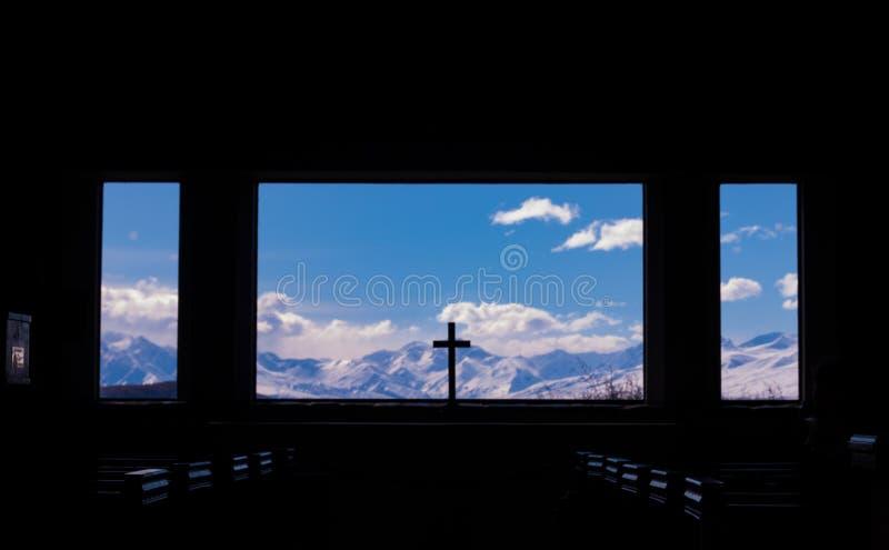 Igreja do bom pastor em Nova Zelândia imagem de stock