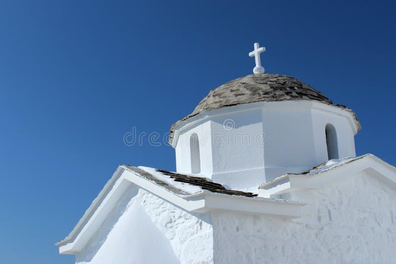 Igreja do branco da reentrância imagem de stock