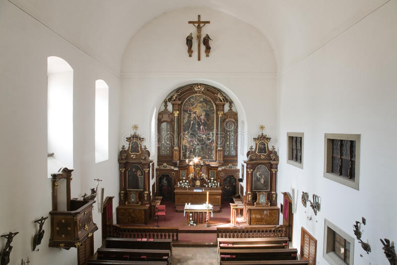 Igreja do Capuchin imagens de stock