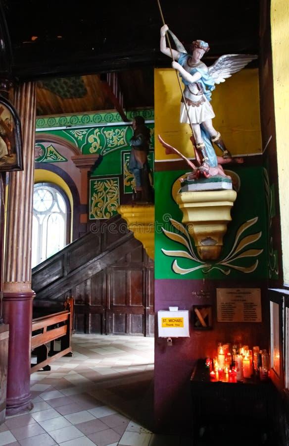 Igreja do Cararibe - St. Michael que derrota Lucifer fotos de stock