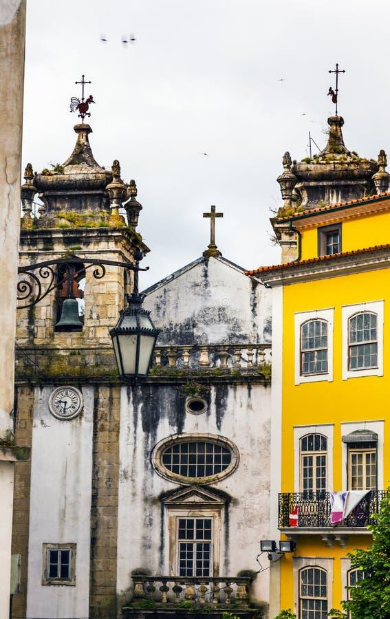 Igreja do Carmo Convent Kerk Middeleeuwse Stad Coimbra Portugal royalty-vrije stock afbeelding