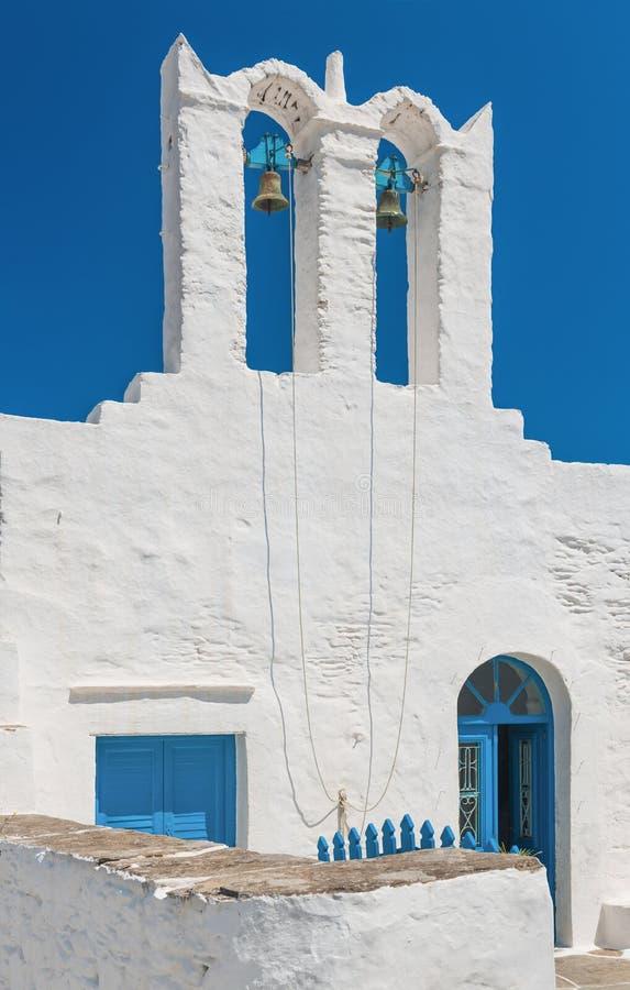 Igreja do console de Sifnos, Greece imagens de stock