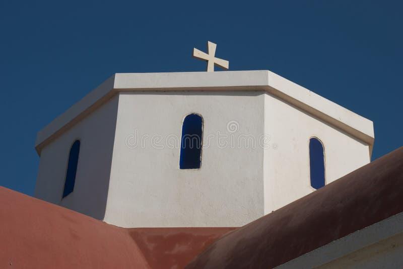 Igreja do Cretan fotografia de stock