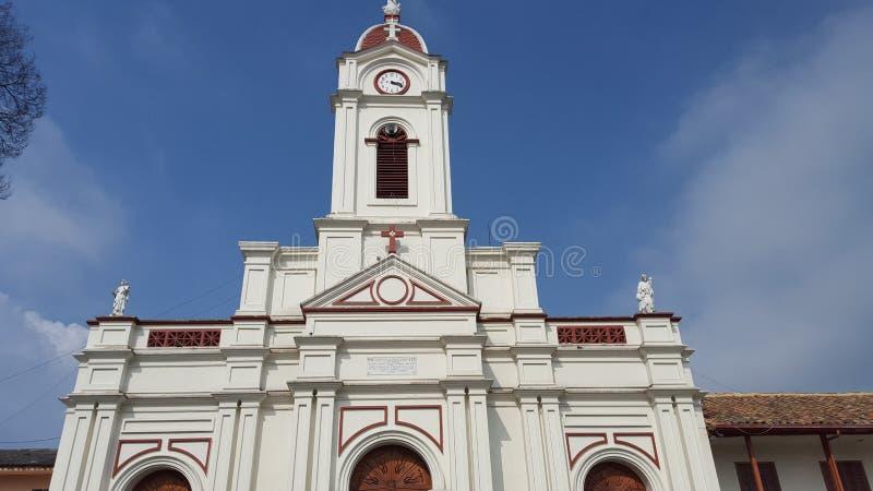 Igreja do cundinamarca de Subachoque (Colômbia) fotografia de stock