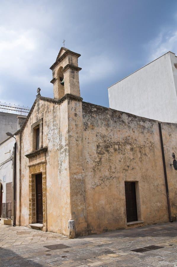 Igreja do d Andria de Madonna. Mesagne. Puglia. Itália. foto de stock royalty free