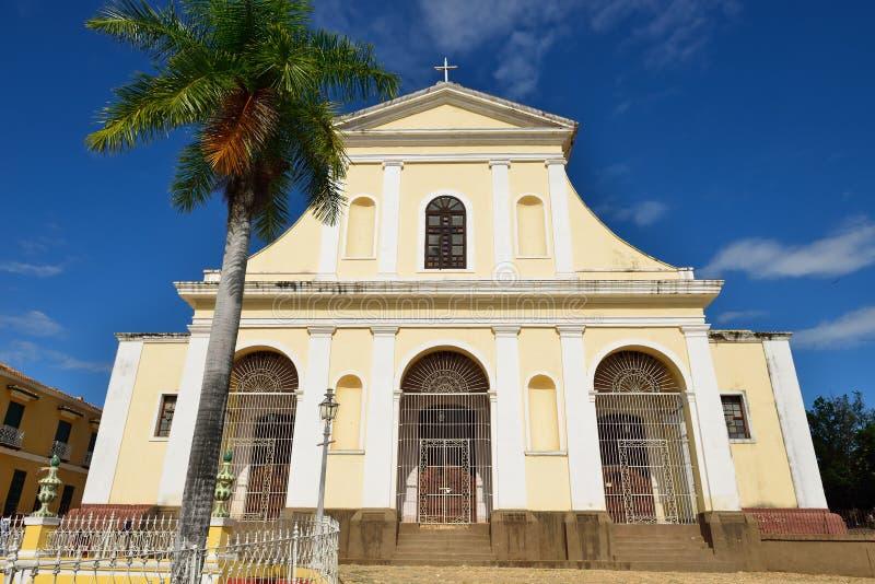 Igreja do da trindade santamente em Trinidad, Cuba imagens de stock
