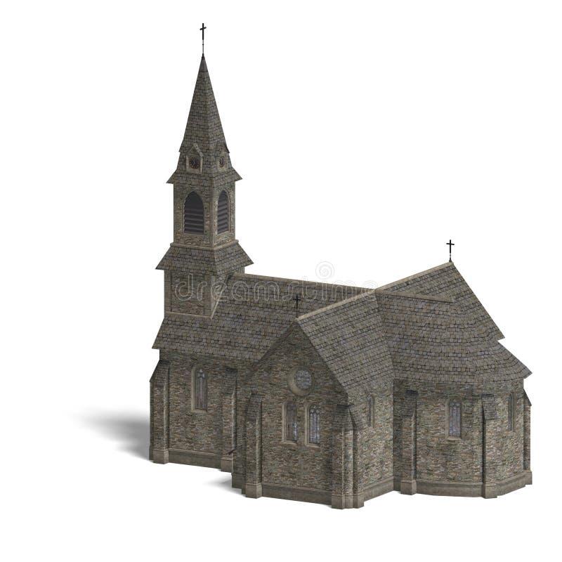 Igreja do edifício da cidade ilustração do vetor