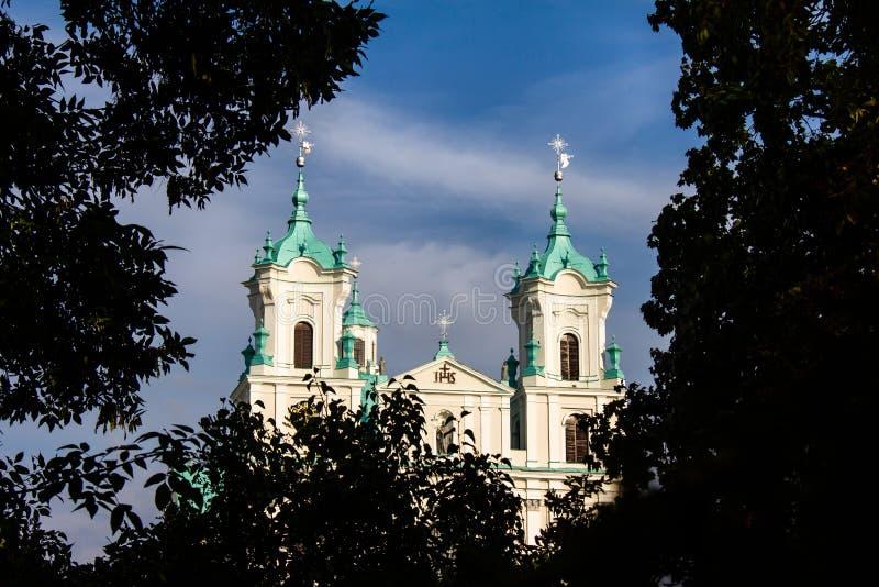 A igreja do ek Xavier do ¡ do frantiÅ do St em Grodno imagens de stock