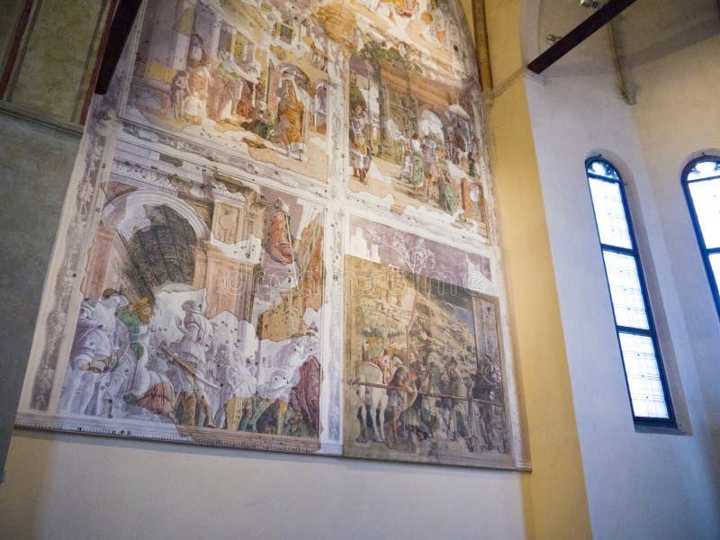 A igreja do Eremitani imagens de stock royalty free