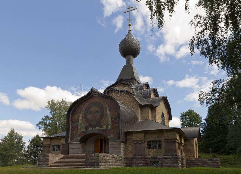 Igreja do Espírito Santo na vila de Talashkino, Rússia fotos de stock royalty free