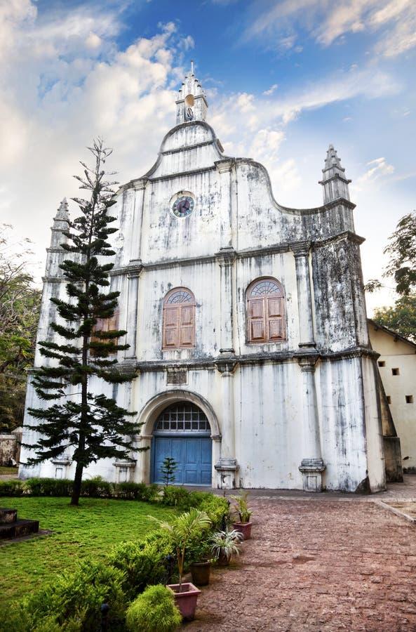 Igreja do gama de Vasco a Dinamarca em Kochi imagem de stock