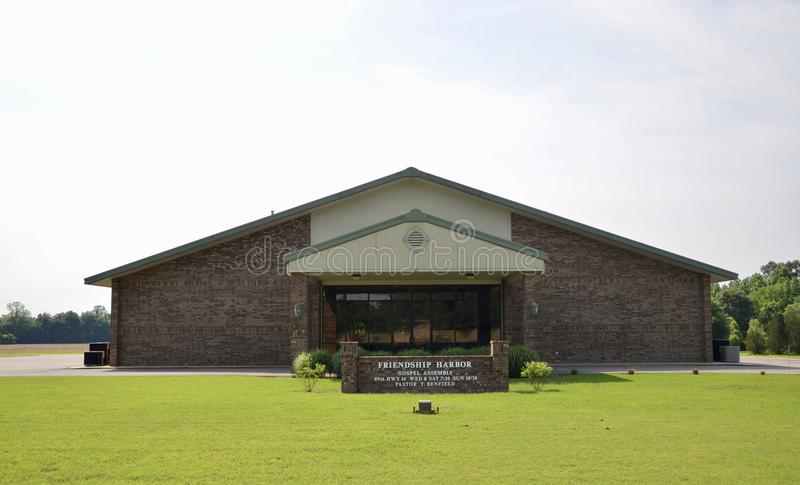 Igreja do gospel do porto da amizade, Millignton, TN imagem de stock