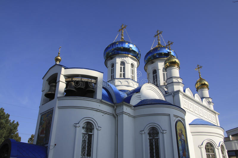 Igreja do hospital em Krasnodar fotografia de stock royalty free
