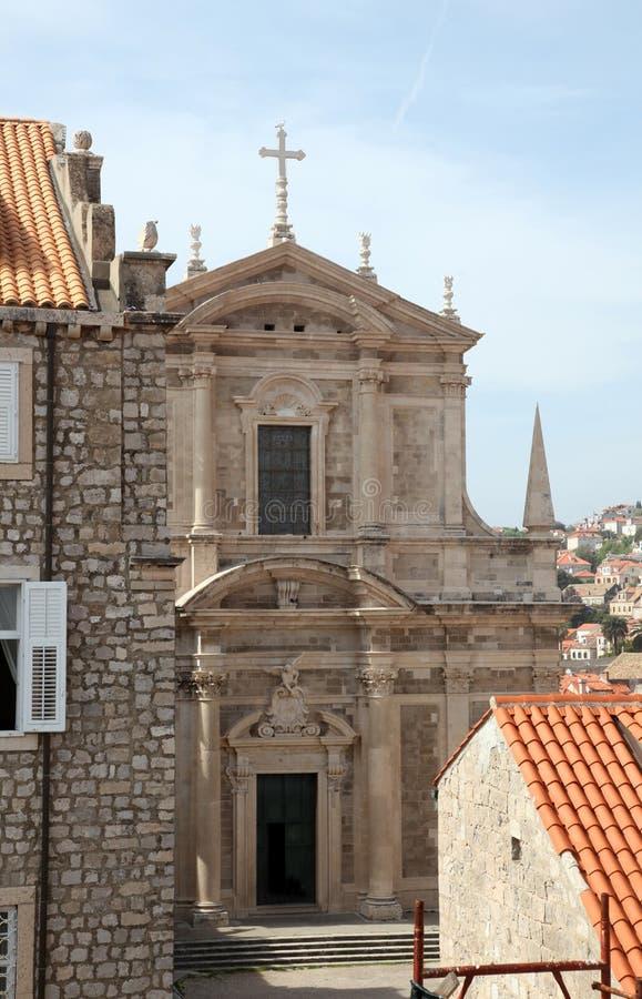 Igreja do jesuíta de St Ignatius, Dubrovnik fotografia de stock royalty free