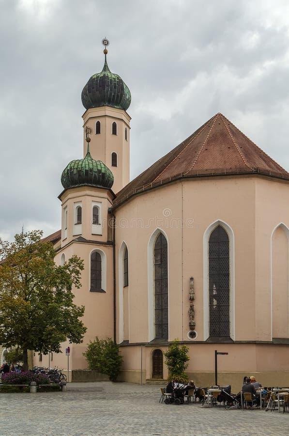 Igreja do jesuíta, Straubing, Alemanha imagem de stock