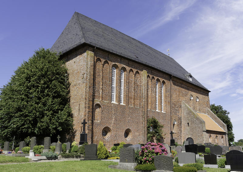 Igreja do leste do Frisian foto de stock