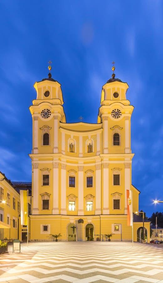 Igreja do licor beneditino de Mondsee imagem de stock royalty free