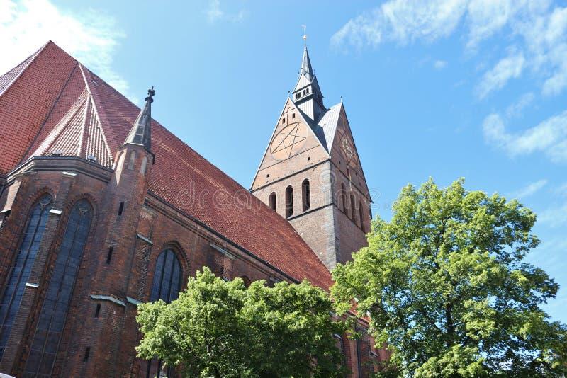 A igreja do mercado em Hanover, Alemanha imagens de stock royalty free