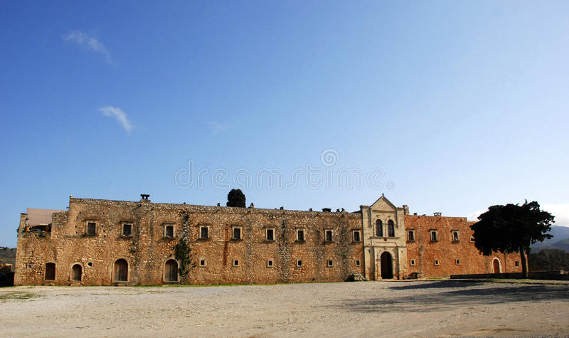 Igreja do monastério de Arkadi, Crete foto de stock royalty free