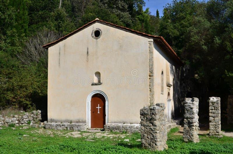 Igreja do monastério de Evangelistria foto de stock royalty free