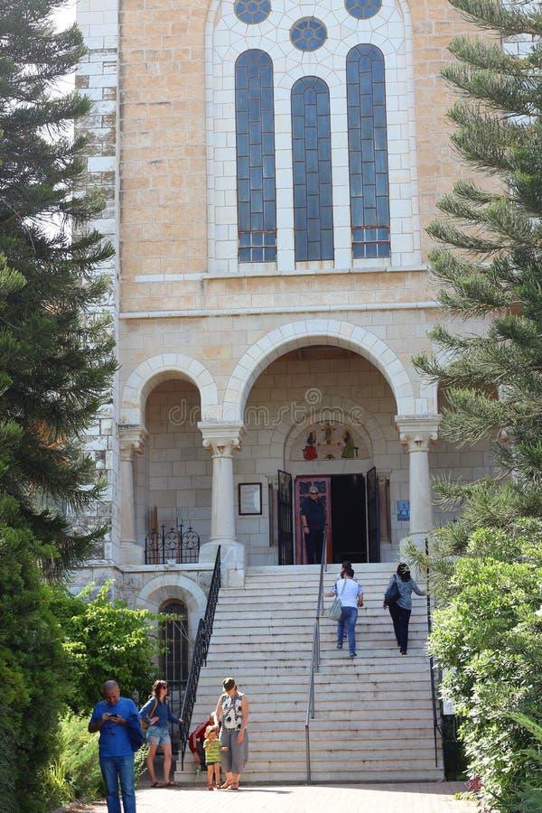 Igreja do monastério de Latrun, Israel foto de stock royalty free