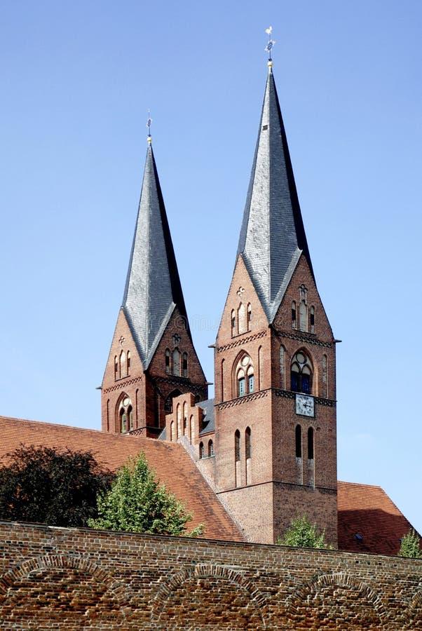 Igreja do monastério de Neuruppin em Alemanha imagem de stock