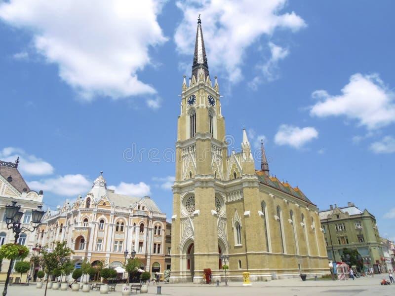 Igreja do nome de Mary em Novi Sad, Sérvia foto de stock