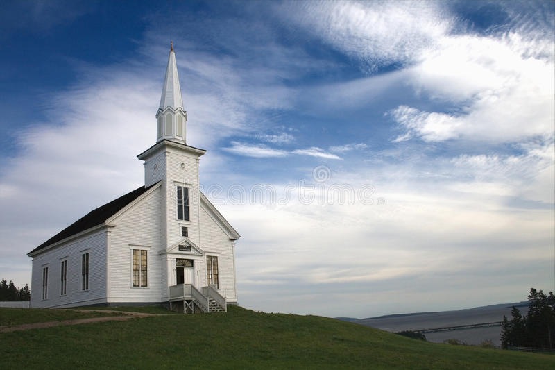 Igreja do país imagens de stock royalty free