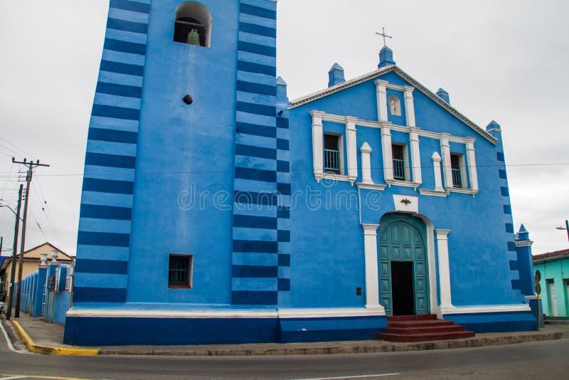 A igreja do prefeito de Parroquial em Sancti Spiritus, Cuba O churc o mais velho de Cuba fotografia de stock royalty free