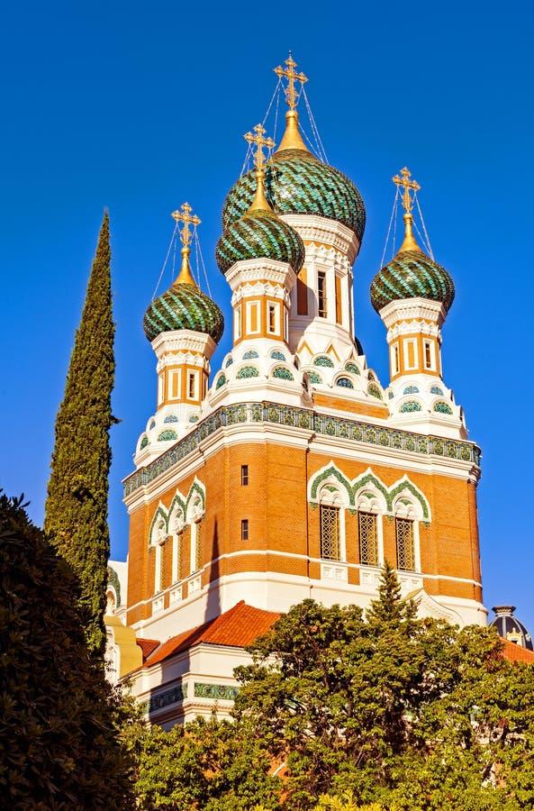 Igreja do russo em agradável fotografia de stock