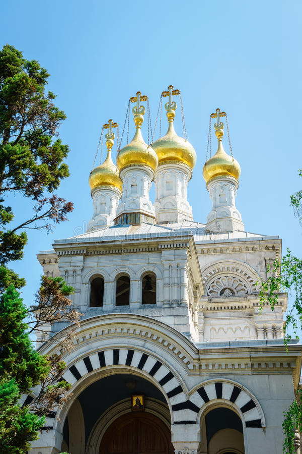 Igreja do russo, Genebra, Switzerland foto de stock royalty free