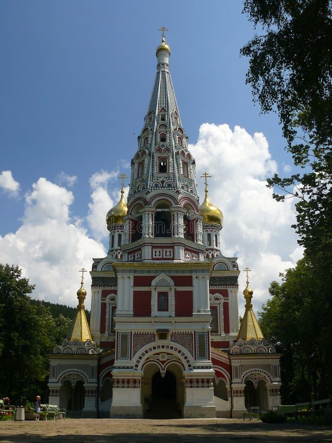 Igreja do russo - vila de Shipka fotografia de stock royalty free