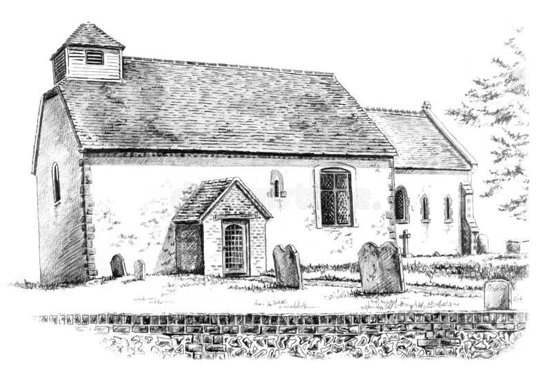 Igreja do século XII ilustração royalty free