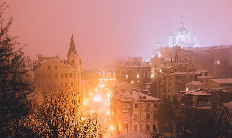 Igreja do ` s de Kiev, Ucrânia St Andrew foto de stock royalty free