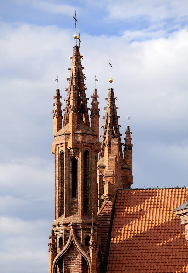 Igreja do ` s de St Anna em Vilnius, Lituânia fotografia de stock royalty free