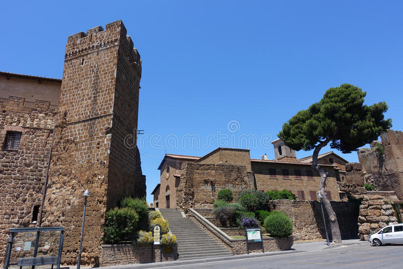Igreja do ` s de St Mary em Cerveteri fotos de stock royalty free