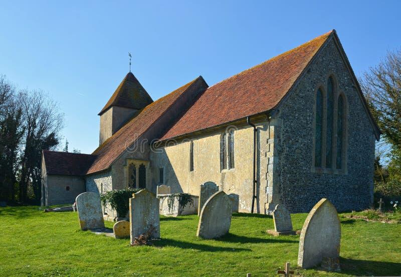 Igreja do `s do St mary Tarring Neville, Sussex Reino Unido imagens de stock