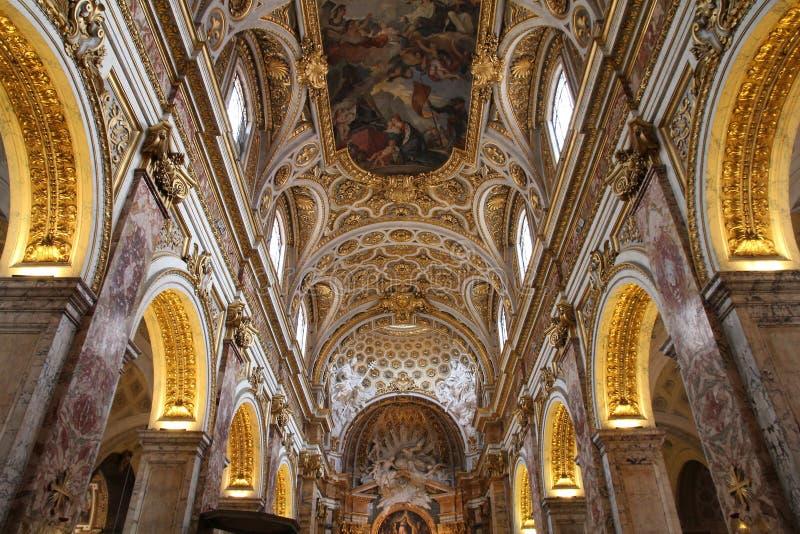 Igreja do Saint Louis, Roma fotografia de stock