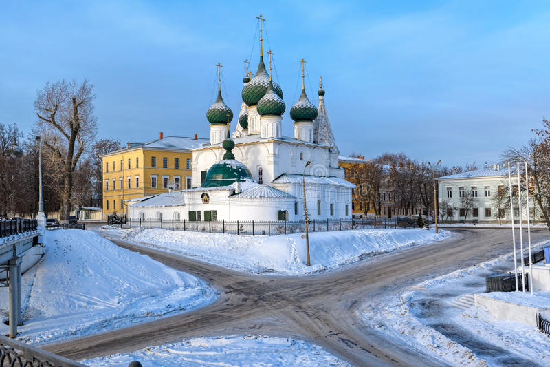 Igreja do salvador no gorodu do na de Spasa da cidade, Yaroslavl imagem de stock
