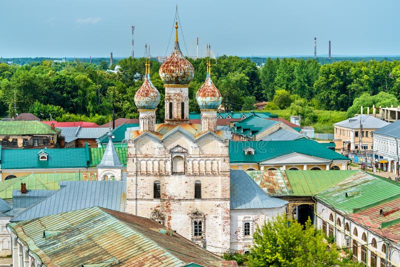 Igreja do salvador no mercado em Rostov Veliky, o anel dourado de Rússia imagens de stock royalty free