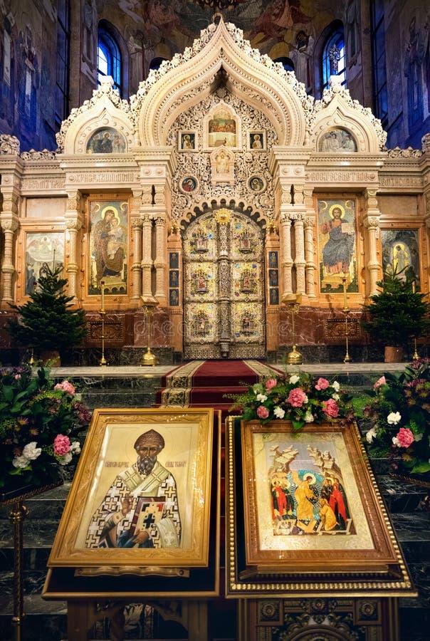 Igreja do salvador no sangue derramado foto de stock royalty free