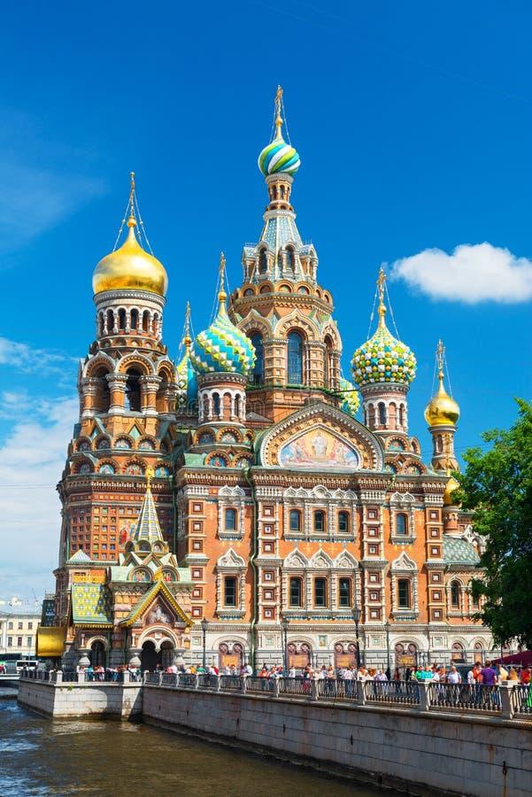 Igreja do salvador no sangue derramado em St Petersburg, Russi fotos de stock