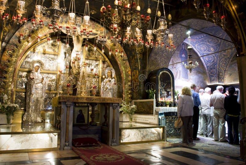 Igreja do Sepulchre santamente, Jerusalem imagem de stock