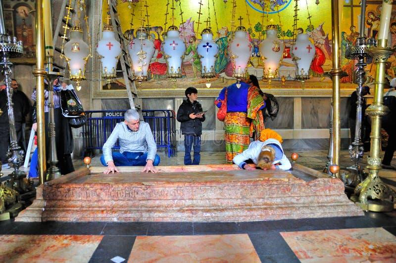 Igreja do sepulcro santamente, Jerusalém Israel foto de stock royalty free
