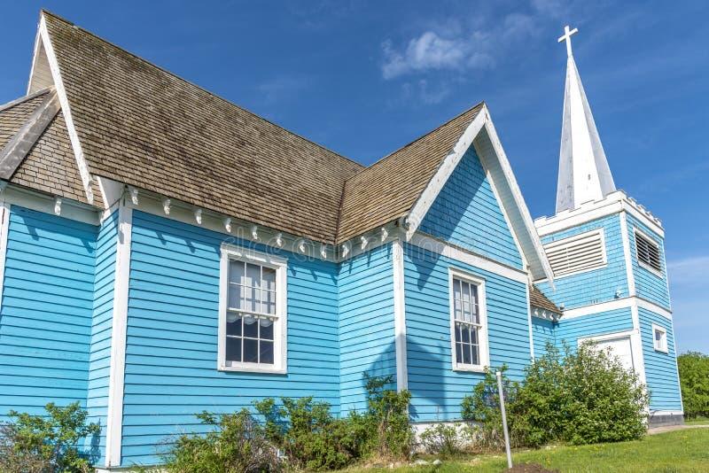 Igreja do St Edmund no vale grande, Alberta foto de stock royalty free